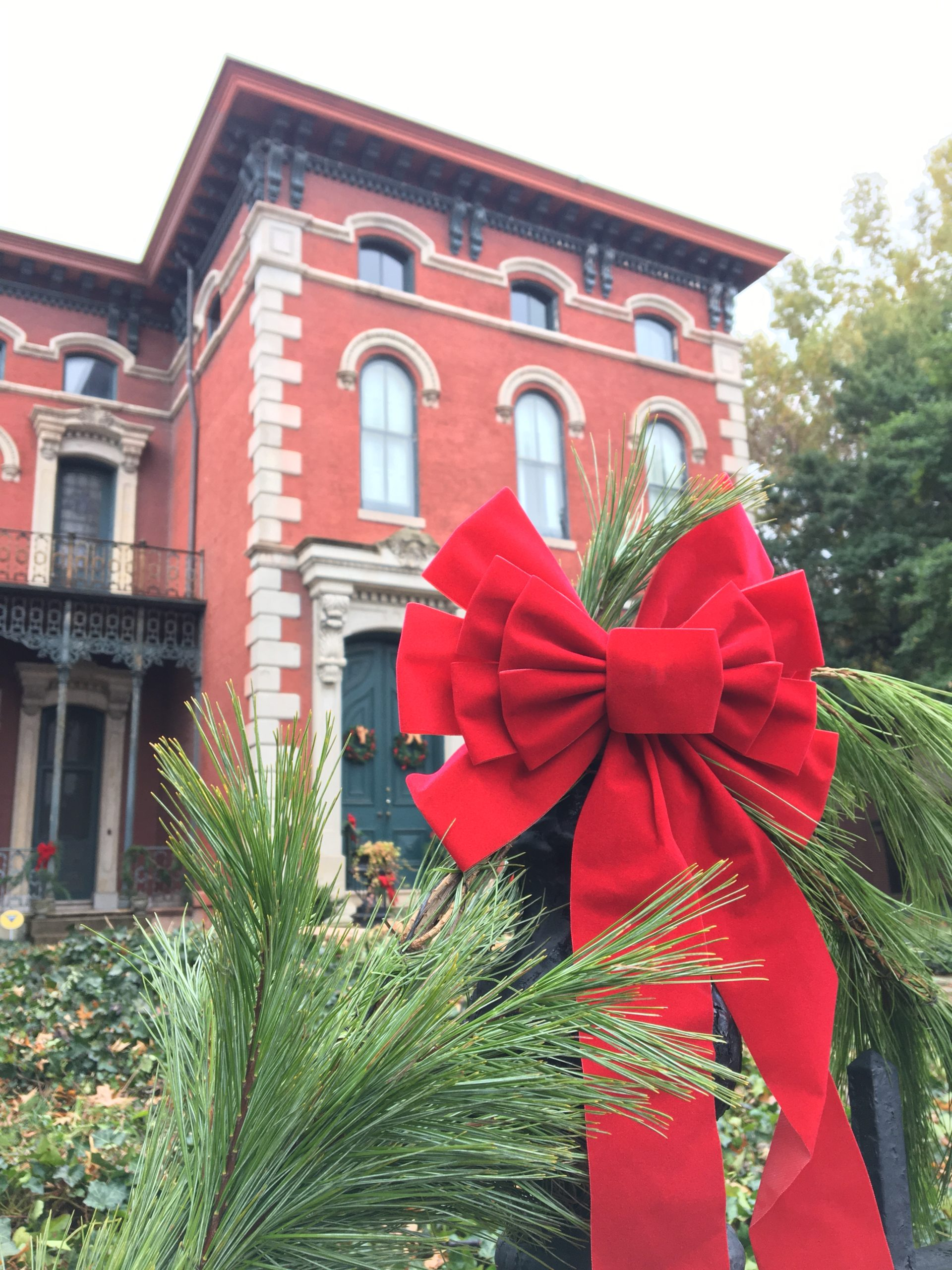 Brennan House decorated for the Holidays